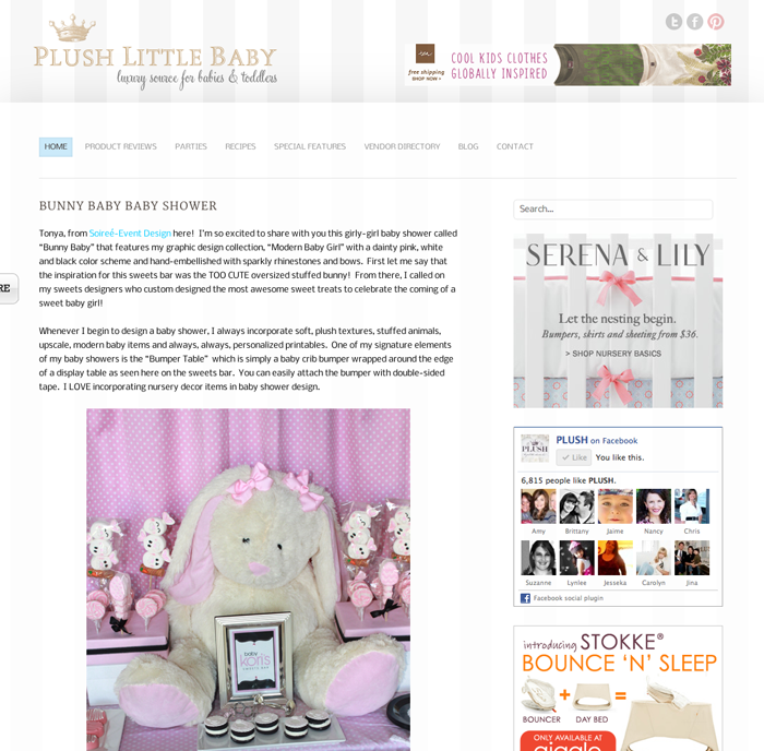 modern baby girl baby shower sweets table soiree event design