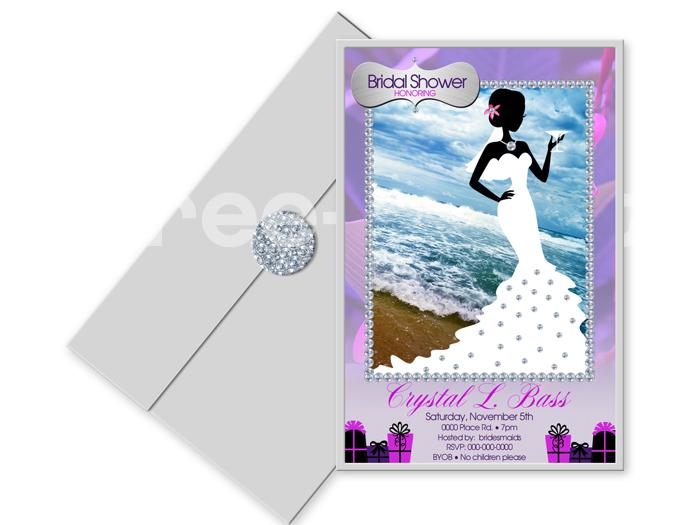 """""""Bling Bride"""" Custom Bridal Shower Design Collection"""