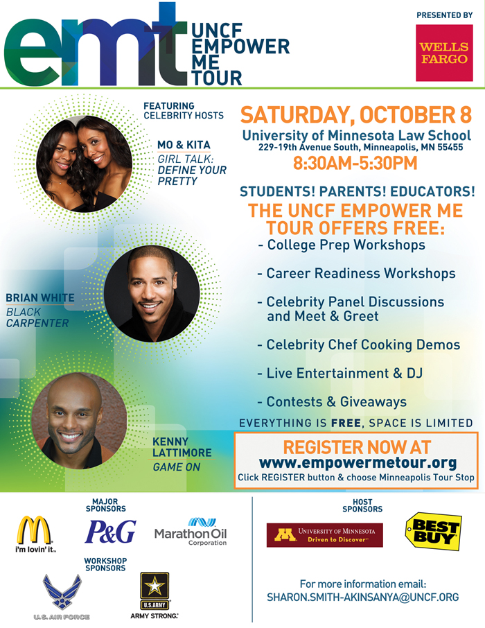 Off to the Twin Cities for the UNCF Empower Me Tour!