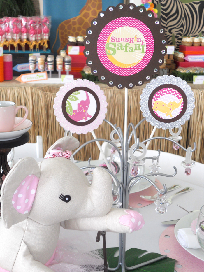 "Operation Shower ""Girly Safari Tea Party"" Table Details!!!"