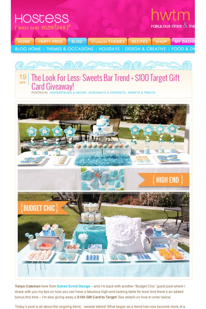 """""""The Girlfriend's Guide to Party Planning!"""" NEW Target Gift Card Winner Announced!"""