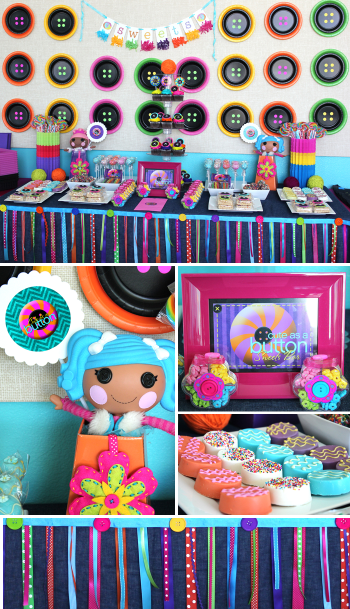 Lalaloopsy party decorations and Lalaloopsy printables and Lalaloopsy sweets