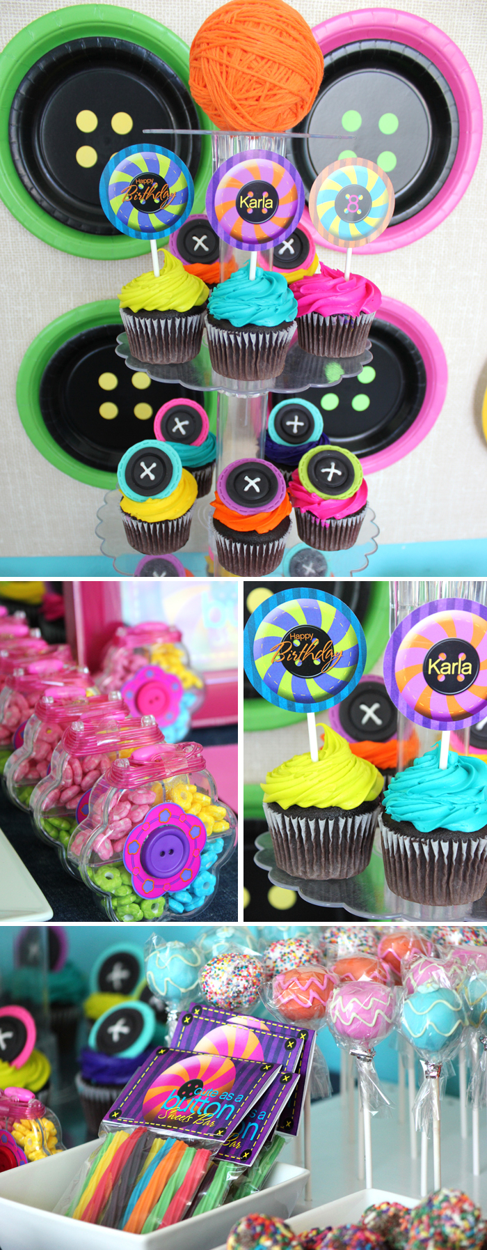 Lalaloopsy party printables and cupcakes and sweets tables and favors
