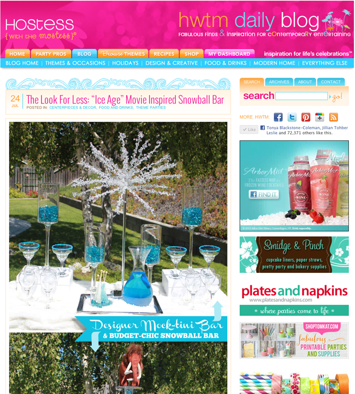 "HWTM Look For Less ""Budget Chic"" – Snowball & Mock-tini Bars!"