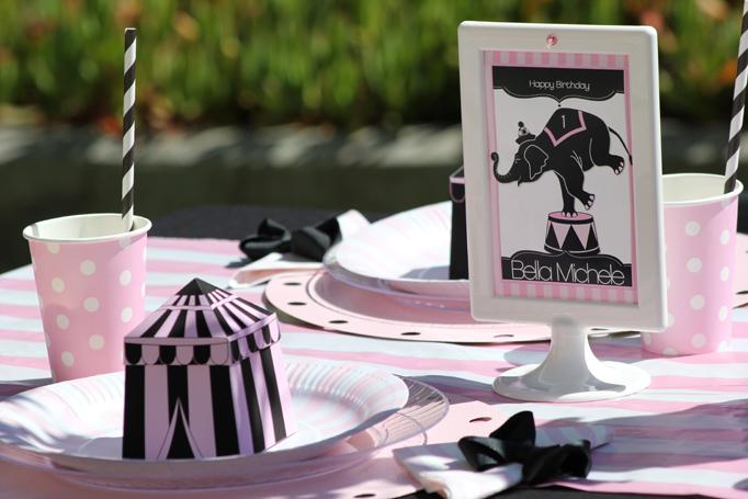 girly circus printables