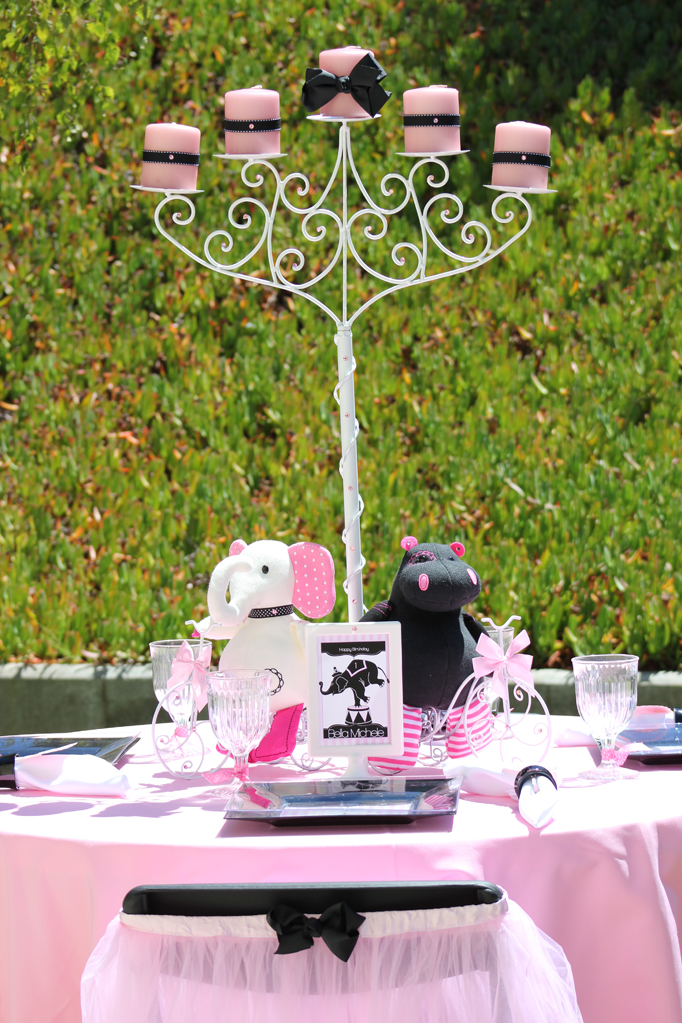 """Girly Circus!"" Designer Table for a Circus Party"
