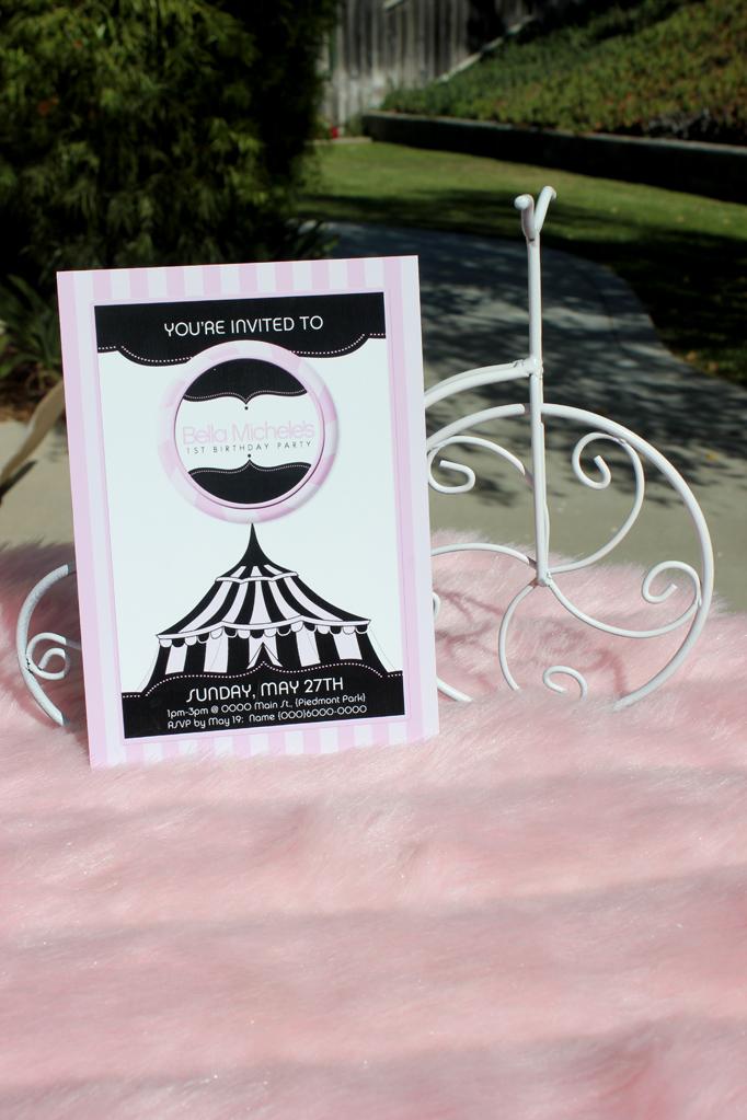 girly circus invitations
