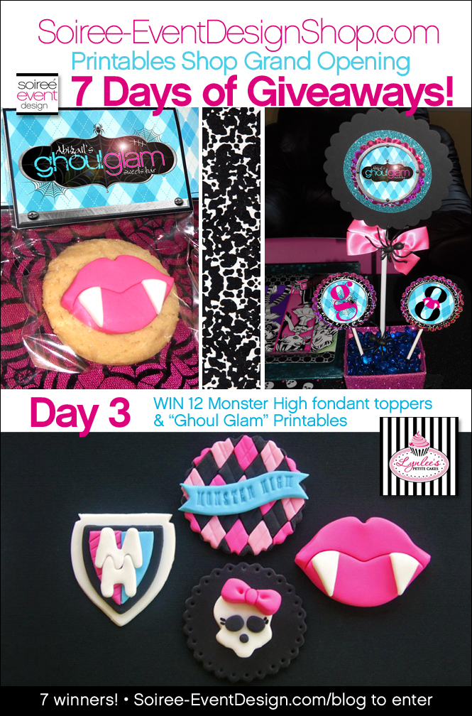 "{Giveaway} Day 3: ""Ghoul Glam!"" Monster High inspired Printables"