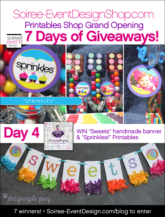 "{Giveaway} Day 4: ""Sprinkles!"" Printables"