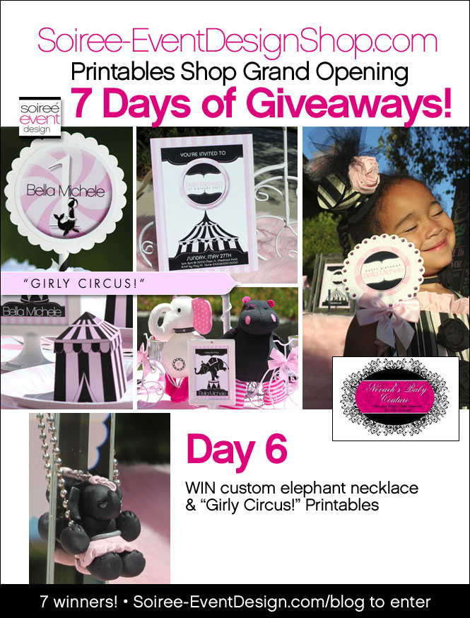 "{Giveaway} Day 6: ""Girly Circus!"" Printables"