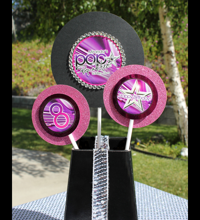 poparazzi pop star printable decorations