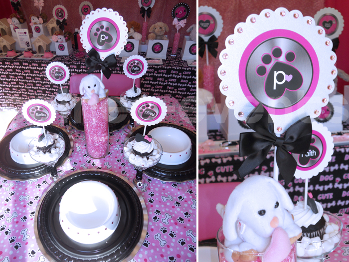 Puppy Love placesetting