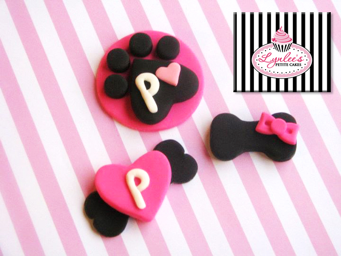 Puppy Love fondant toppers