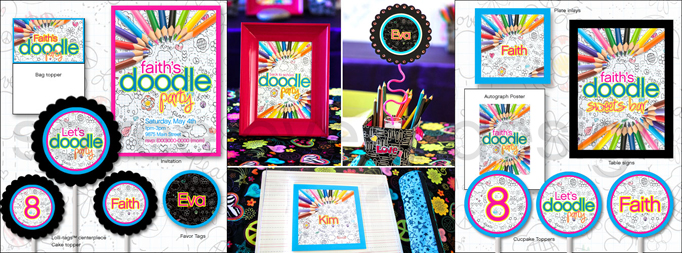 Trend alert doodle cakes cake bars hostess with the party