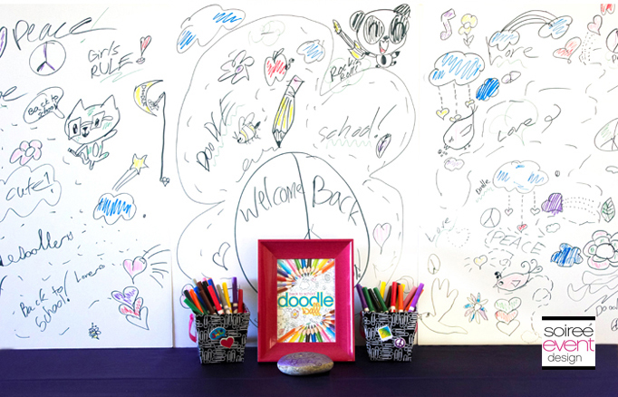 Doodle Art Party Activities + Doodle Wall