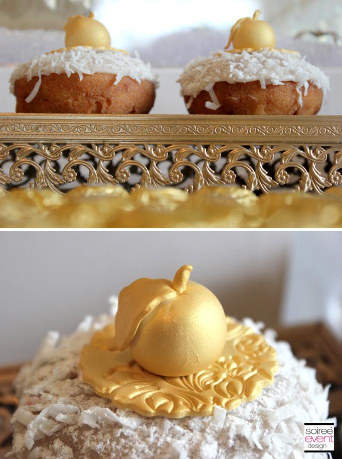 custom gold fondant apples