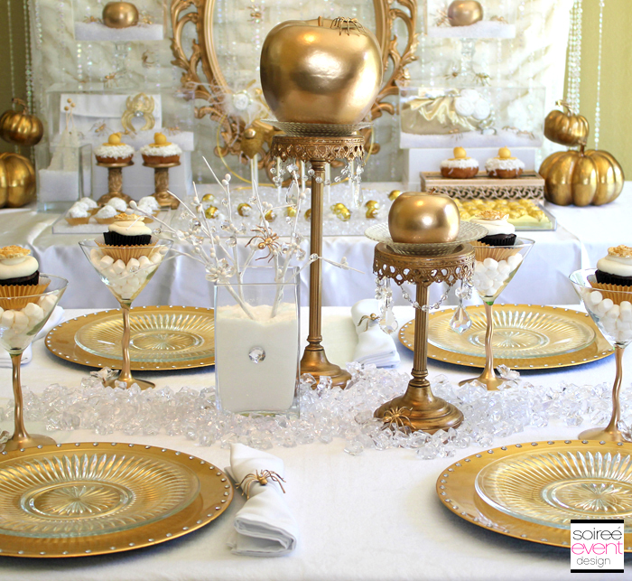White and gold christmas table decorations 2017 2018 for All white party decoration ideas