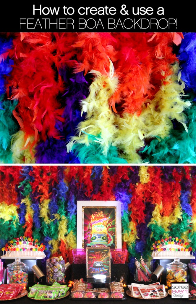 {RAINBOW WEEK} How to Create and Use Feather Boa Backdrops!