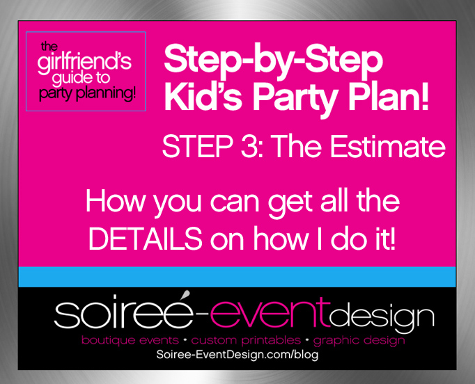 """Girlfriend's Tips to Party Planning"" Step-by-Step Party Plan for a Kid's Party: Step 3 — The Estimate"