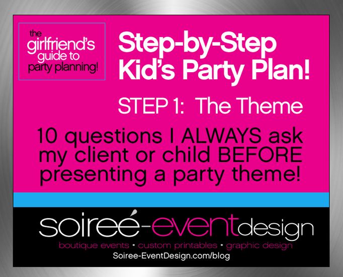{Girlfriend's Tips to Party Planning!} Step-by-Step Party Plan for a Kid's Party: Step 1 — The Theme