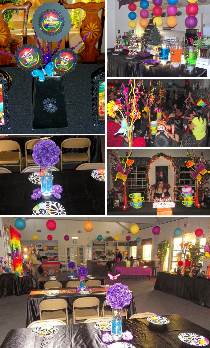 Teen Rainbow & Gothic Mad Hatter Alice In Wonderland Party ...