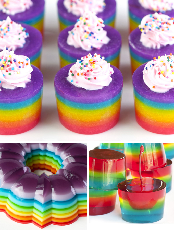Jello Gelatin Dessert Rainbow Week Jello Desserts