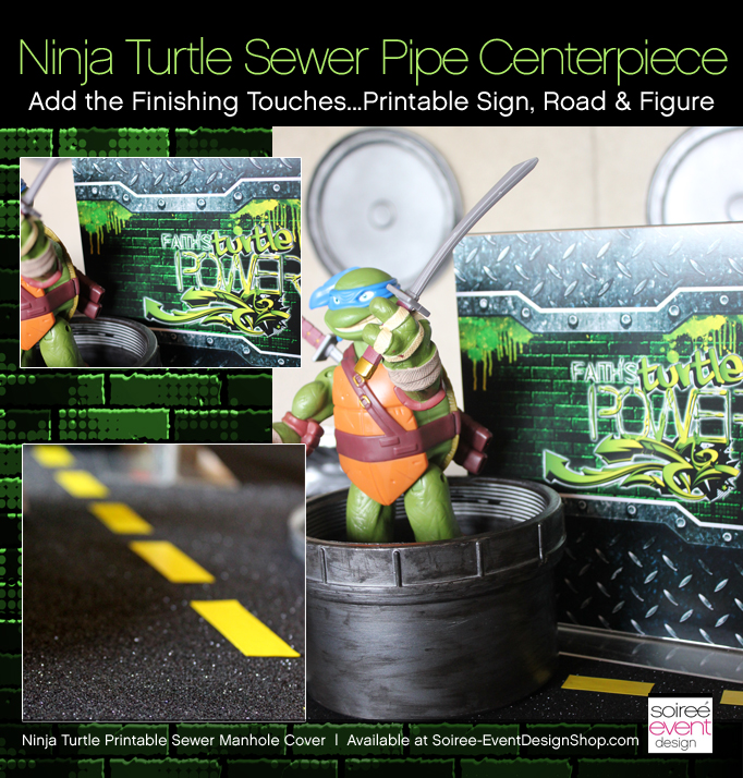 Ninja-turtle-party-centerpiece-finish
