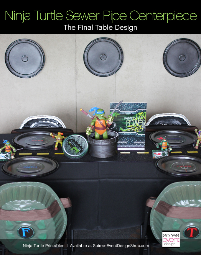 Ninja-turtle-party-centerpiece-table