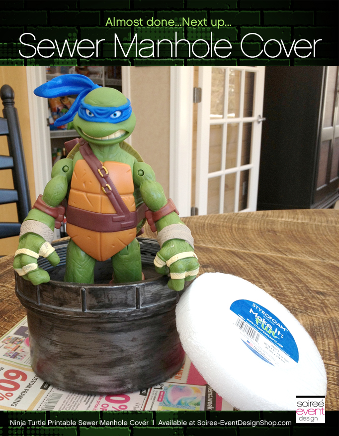 Ninja-turtle-party-manhole-cover