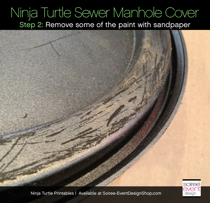 Ninja-turtle-party-sewer-cover-distress