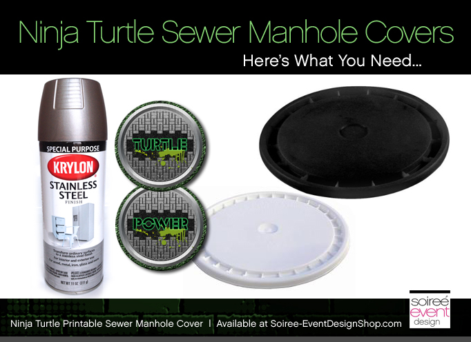 Ninja-turtle-party-sewer-cover-supplies