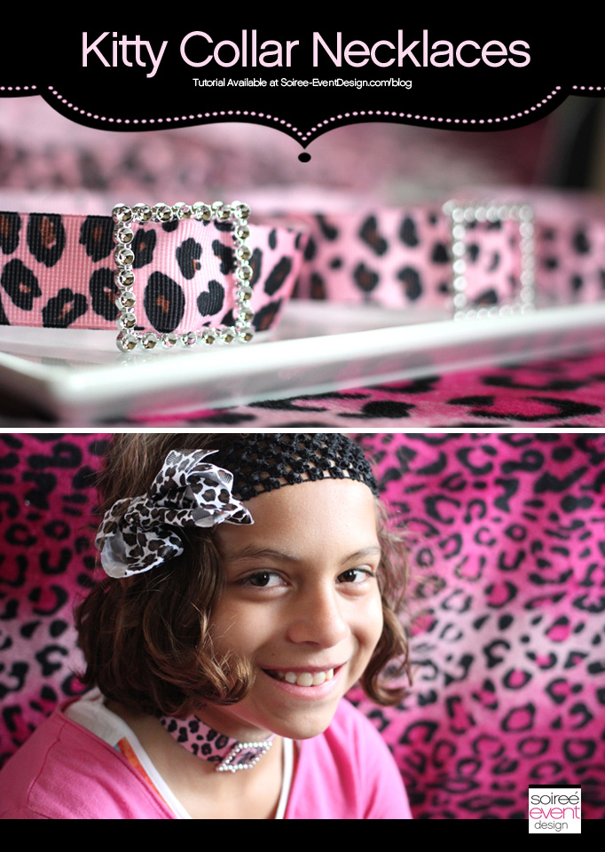 Tutorial: Make your own Kitty Party Favors: Kitty Collar Necklaces