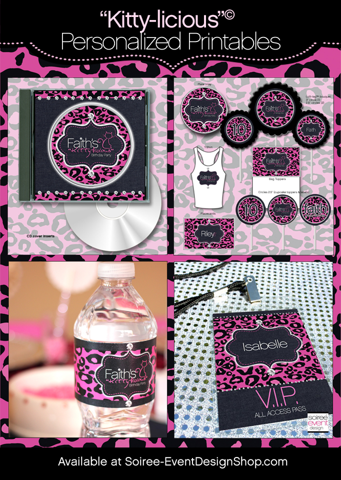 Kitty-licious Glam Printables