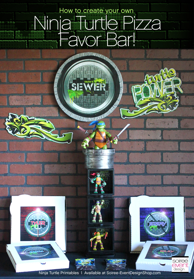 Ninja-turtle-party-pizza-favor-bar