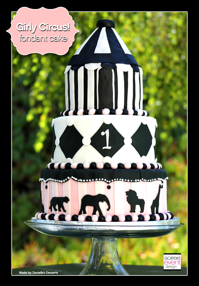 Cake Week:  Girly Circus Cake!