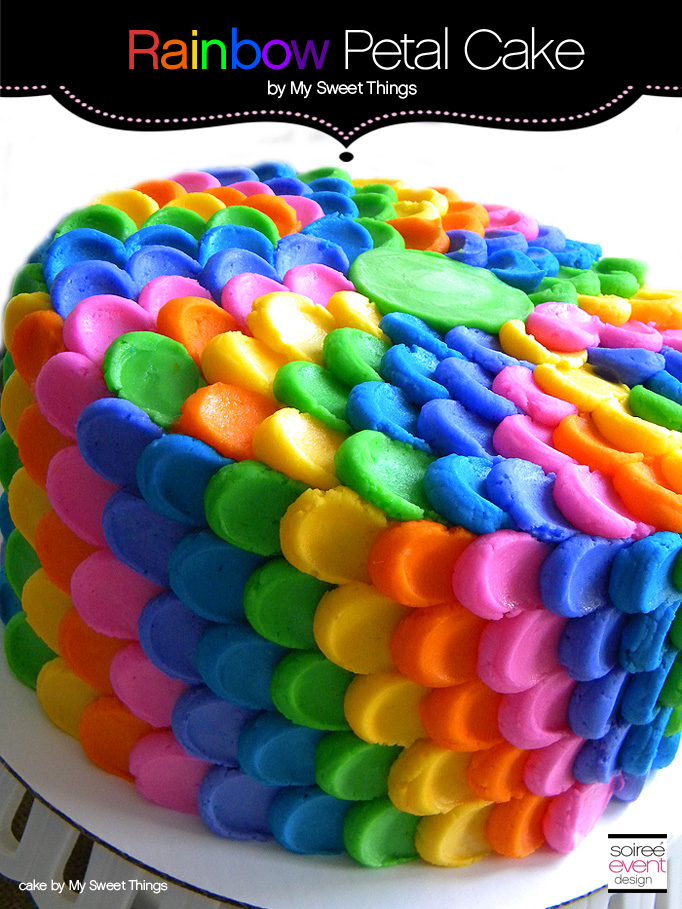 Cake Trend: Rainbow Cake with Petal Buttercream Frosting