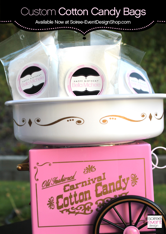 Custom Cotton Candy Bags with Personalized Labels Now Available!