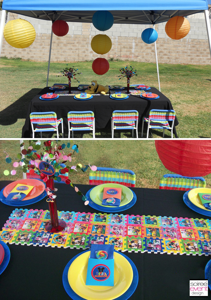 Mickey mouse party ideas spaceships and laser beams for Backyard party decoration crossword