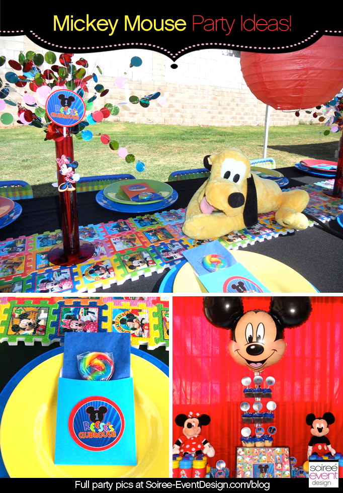New Character Week: Mickey Mouse Party Ideas - Soiree Event Design @PC42