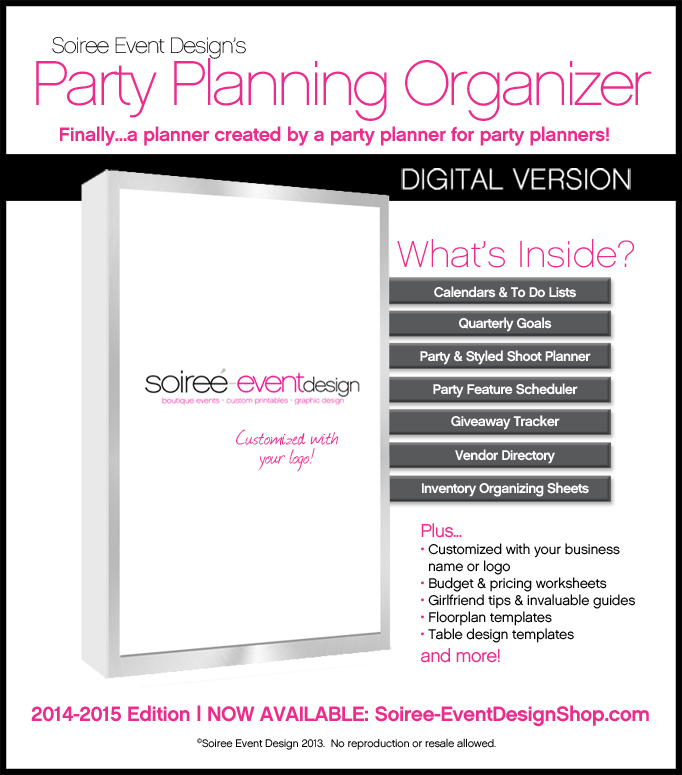 Soiree Event Design's Party Planning Organizer Now Available!