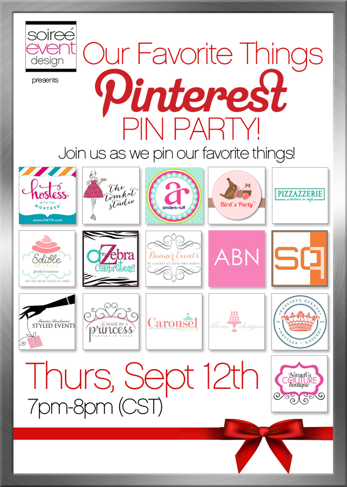 My Favorite Things Pinterest PIN PARTY Thursday 9/12!