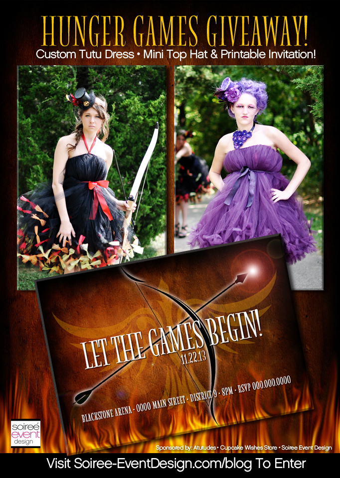 GIVEAWAY:  Hunger Games Inspired Couture Tutu Dresses & Top Hat