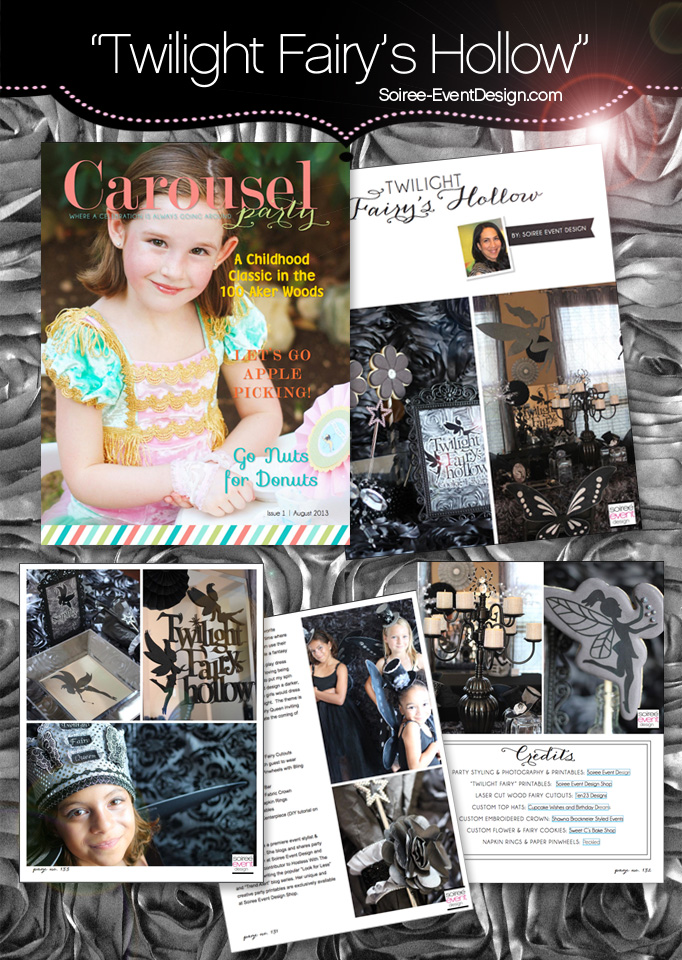 """Twilight Fairy's Hollow"" Party featured in Carousel Magazine"