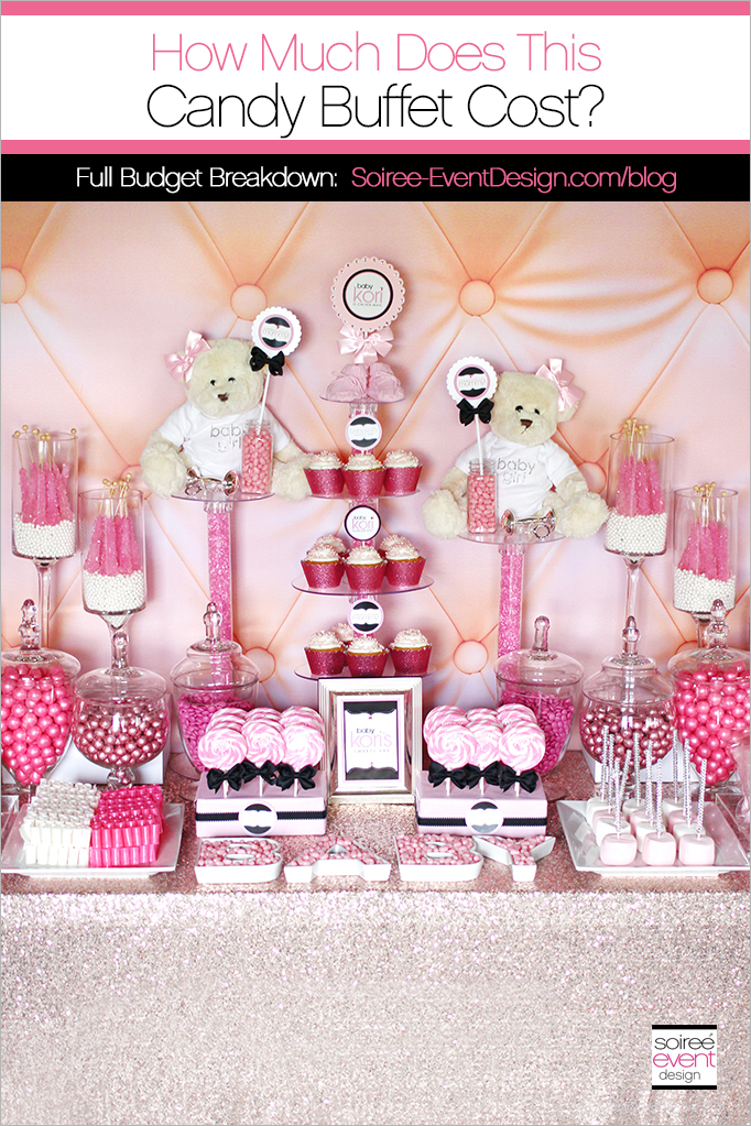 How much does a candy buffet cost