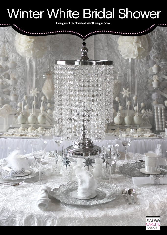 Look For Less Tips:  Winter White Bridal Shower