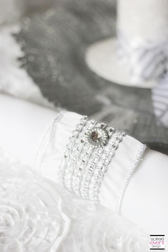 Winter White Bridal Shower Bling Napkin Rings