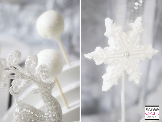 winter white bridal shower decor