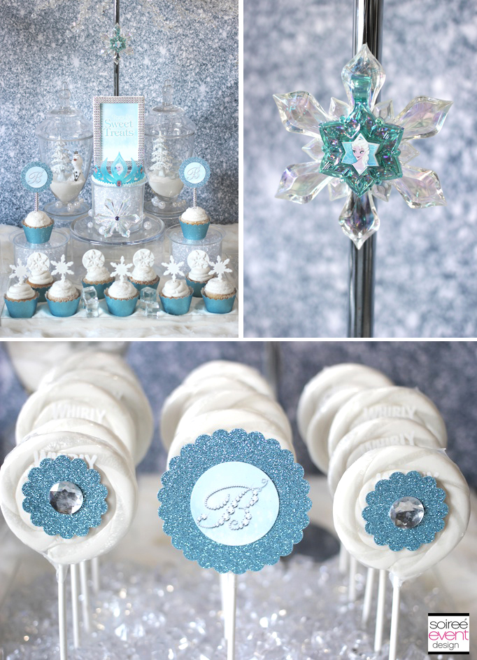 Frozen Sweets Table Featuring Ice Princess Party