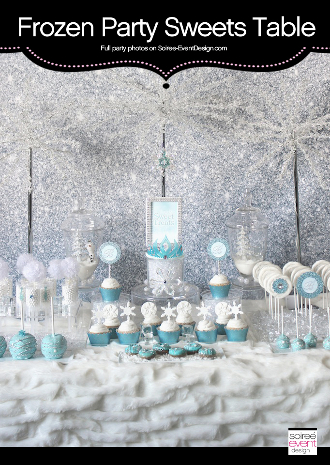 Frozen Sweets Table featuring Ice Princess Party Printables