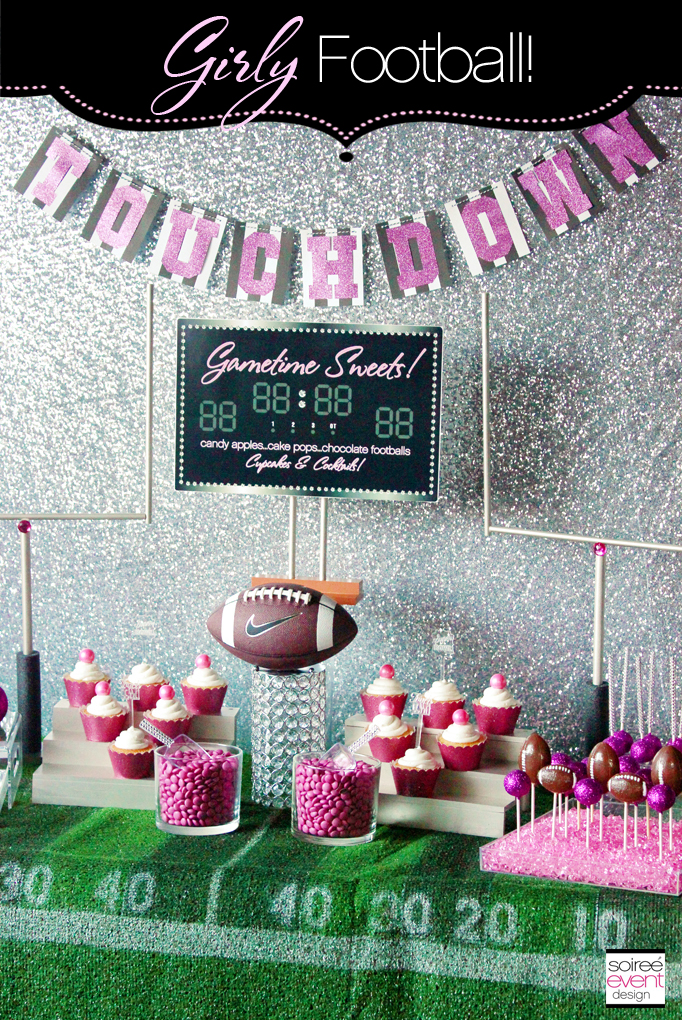Girly Football Sweets Table